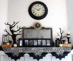 fox hollow cottage twenty halloween mantel and more decorating ideas