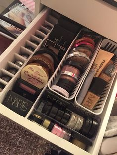 "DIY IKEA ""Alex"" Makeup Storage Drawer Dividers"