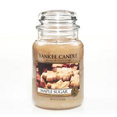YANKEE CANDLE 22OZ LARGE JAR-----MAPLE SUGAR------NEW TREASURE RELEASE