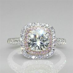 """Admired by brides, halo diamond engagement rings really are a signature type of Ritani. Halo rings have a central round stone encircled with a """"halo"""" of smaller sized diamonds or gemstones. Wedding Rings Simple, Beautiful Wedding Rings, Wedding Rings Solitaire, Beautiful Engagement Rings, Wedding Rings Vintage, Bridal Rings, Halo Rings, Gold Wedding, Elegant Wedding"""