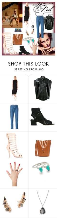 """""""Set sale offer"""" by denisee-denisee ❤ liked on Polyvore featuring Ÿù, Public School, Yves Saint Laurent, P.A.R.O.S.H., Laurence Dacade, Cafuné, Diane Kordas, Samantha Wills, Kendra Scott and Sarah's Bag"""