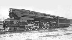 The Pennsylvania Railroad's T1 4-4-4-4 Duplex Drive Locomotive Designed by Raymond Loewy.