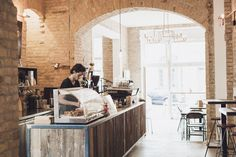 Distrikt Coffee at their beautiful café in Berlin-Mitte. If there's one place that can be described as a hidden gem, it's Distrikt Coffee