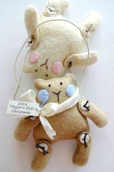 Christmas Ornament Teddy Bear Sewing Pattern par preciouspatterns