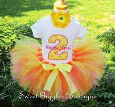 Budget Priced Little Miss Sunshine Number  Birthday Tutu Outfit - Birthday Outfit - Tutu Set