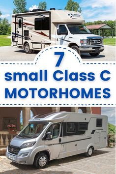 Small Rv Campers, Small Motorhomes, Small Camper Trailers, Class C Motorhomes, Camping Trailers, Minivan Camping, Truck Camping, Camping Life, Rv Life
