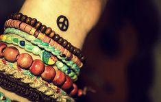 hippie tattoos   beads, hippy, lomo, peace, tattoo - inspiring picture on Favim.com