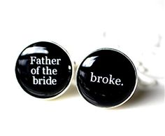 Items similar to Father of the Bride cufflinks, black and white, classic font, wedding cufflinks on Etsy Father Of The Bride, Gifts For Father, You Are The Father, Wedding Badges, Wedding Cufflinks, Classic Fonts, Groom And Groomsmen, Wedding Humor, Hotel Wedding