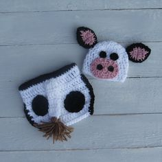 Baby Cow Outfit / Cow Hat with Diaper Cover / by KrashleysKrafts, $35.00