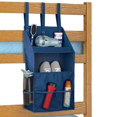 Our exclusive Bunk Bed Organizer is a must have for any camper or bunk bed owner! This amazing organizer packs flat, so it takes up minimal space when packed for camp or a dorm room.