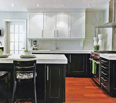 traditional two tone kitchen cabinets - Google Search