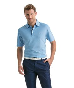 Vineyard Vines Dormie Oxford Performance Pique Polo