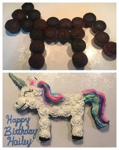 Einhorn Cupcake Kuchen - Famous Last Words Diy Birthday Cake, Unicorn Birthday Parties, Birthday Fun, Birthday Ideas, Girls 2nd Birthday Cake, Pull Apart Cake, Pull Apart Cupcakes, Deco Cupcake, Cupcake Cakes