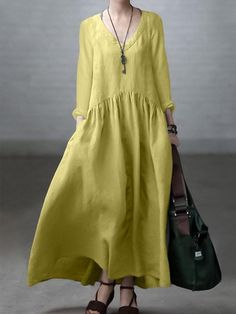 Chiffon Maxi Dress, Mesh Dress, Baggy Dresses, Long Dresses, Fashion Colours, Daily Fashion, Suits For Women, Casual, Daily Style