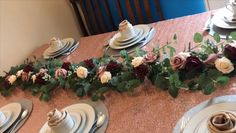 DIY Table Garland DIY Table Runner DIY wedding Decor & more is part of Wedding decorations - ( Wedding Table Decorations, Garland Wedding, Tree Decorations, Wedding Centerpieces, Decor Wedding, Centerpiece Ideas, Wedding Flowers, Table Garland, Deco Floral
