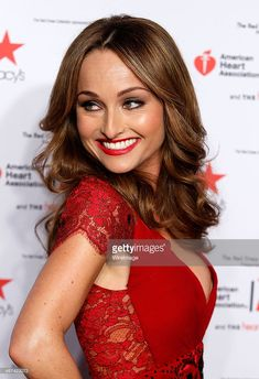 Giada De Laurentiis attends the Go Red For Women - The Heart Truth Red Dress Collection during Mercedes-Benz Fashion Week Fall 2014 at The Theatre at Lincoln Center on February 2014 in New York City. Giada De Laurentiis, Lincoln Center, Go Red, Female Actresses, Hot Brunette, Celebs, Celebrities, Woman Crush, Dress Collection