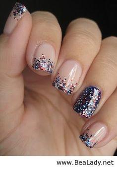 Glitter on nails