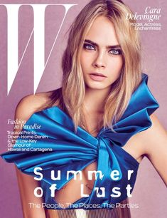 Cara Delevingne Looks Right at Home Reprising Her Modeling Role For W