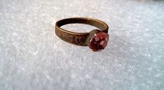 Ancient bronze ring with a stone!.