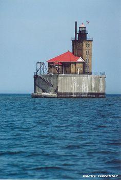 Port Austin Reef, Michigan by bbhetch, via Flickr