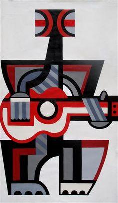Ten Guitars by Paratene Matchitt. toi o tahuna. Tiki Art, Nz Art, Maori Art, Canvas Ideas, Creative Industries, Ukulele, Painting & Drawing, Art Ideas, Abstract Art