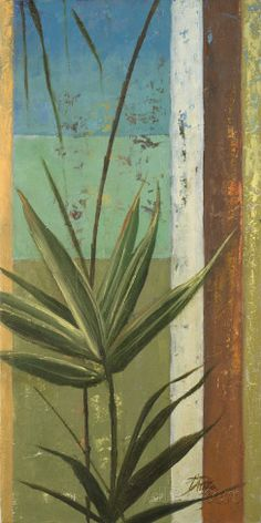 Bamboo and Stripes I Lámina