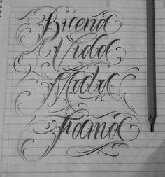 """398 Me gusta, 4 comentarios - SICK FLACO (@flaco.letters) en Instagram: """"Buena vida / mala fama = Lettering criminal #buenavidamalafama #CRIMINALLETTERING #letters…"""""""