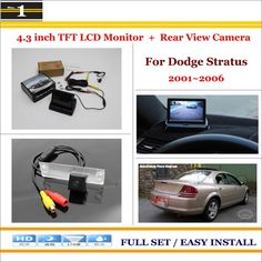 "Car Parking Camera + 4.3"" LCD Monitor NTSC PAL = 2 in 1 Parking Rearview System - For Dodge Stratus 2001~2006"