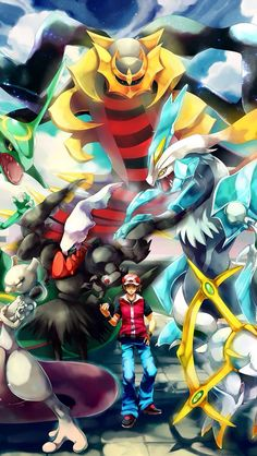 Pokemon trainer Red. 12 Pokemon Trainers Wallpapers for iPhone. - @mobile9 #pokemon #anime