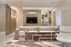 Sala do apartamento no Condomínio Jacaranda   Leila Dionízios Arquitetura