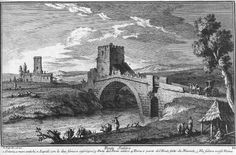 Ponte Salero on the Via Salaria by Giuseppe Vasi (1710-1782). From Rome Art Lover