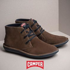 Comfy brown/olive suede casual ankle boots for him, NOW OFF! Fall Winter, Autumn, Camper, Ankle Boots, Comfy, Brown, Casual, Men, Shopping