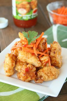 Chicken Bites - these ones are made Thai by serving with sweet chili sauce, but any other kind would work just as well.