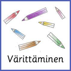 Materiaali - Värinautit Learn Finnish, Learning, Studying, Teaching, Education