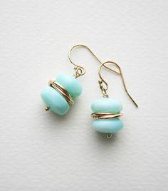 Peruvian Opal Earrings, Opal Earrings, Gift for Her, Gemstone Earrings - Trend Beaded Jewelry 2020 Ear Jewelry, Glass Jewelry, Jewelry Accessories, Fine Jewelry, Jewelry Design, Jewelry Making, Jewelry Box, Jewelry Candles, Body Jewelry