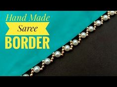 Hand made border/ for saree/ easy to make/ border making/ unique border/ useful & easy hi viewers today i am gonna show you how to make this beautiful and ad. Crochet Edging Patterns, Bead Embroidery Patterns, Crochet Headband Pattern, Beaded Jewelry Patterns, Beaded Embroidery, Beading Patterns, Saree Tassels Designs, Saree Kuchu Designs, Fancy Blouse Designs