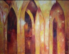 Sacred Spaces: Paintings and Mixed Media, works by Jessie Krause and Eileen Shahbender.