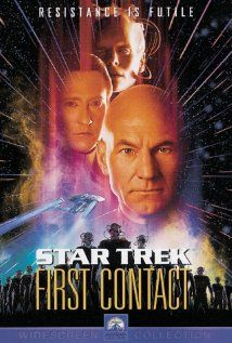 In Star Trek: First Contact, Piccard must wrestle with his feelings of vengeance against the Borg and the other members of the Enterprise must make sure history unfolds as it was supposed to