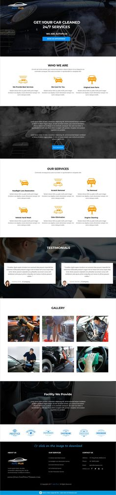 Auto Plus is clean and modern design responsive #Unbounce template for stunning #car #wash services website to download click on image.