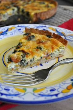 Spinach and Bacon Quiche | http://mybakingheart.com
