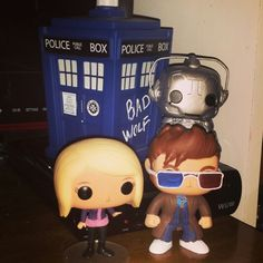 Custom 3D glasses 10th Doctor featured with custom Rose Tyler and Cyberman.