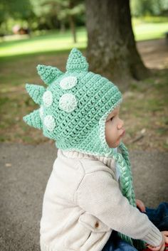 Dinosaur Dragon Hat  All Sizes Available  by HotOffTheHookCrochet, $29.00