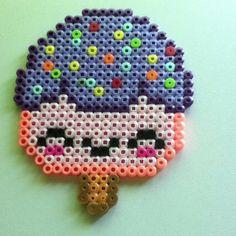 Kawaii ice cream perler beads by thoughtful_ideas