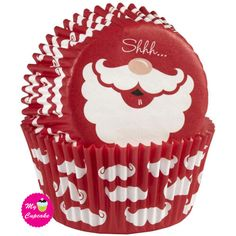 """Wilton Santa Standard Christmas Cupcake Liners - Ho-ho-ho holiday cups, let Santa do the talking with these baking cups this season! Standard size Cupcake Liners 2 """" diameter base Package of 75 Santa Cupcakes, Christmas Cupcakes, Christmas Ornaments, Cupcake Liners, Baking Cups, Muffin Cups, Seasons, Holiday Decor, Party"""