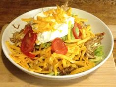 Gluten Free & Low Carb - Shredded Chicken Taco Salad