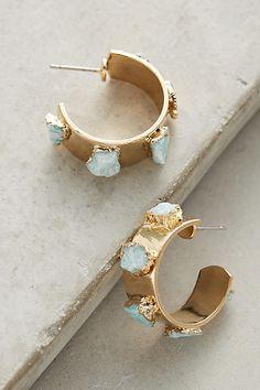 Dani Barbe Amazonite Hoop Earrings