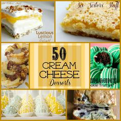 50 Delicious Cream Cheese Desserts from Sixsistersstuff.com
