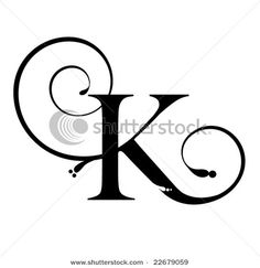 Latin Capital Letter K Stylistic Set   Calligraphy