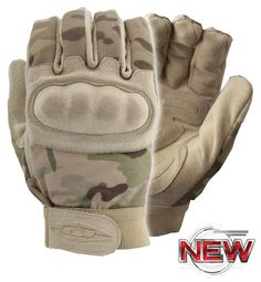 "Nexstar III™ - MultiCam® Print Gloves w/ Hard Shell Knuckles  Medium weight materials used for additional durability Foam injected padded knuckles Diverse ""mechanics"" style useful for multiple applications / tasks Clarino® synthetic suede palm Reinforced padding on palms at key wear points Adjustable wrist closure Washable"