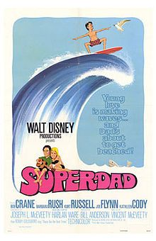 Superdad is a 1973 American comedy film by Walt Disney Productions and starring Bob Crane, Barbara Rush, Kurt Russell, Joe Flynn, and Kathleen Cody. The film marks the on-screen debut of Bruno Kirby.